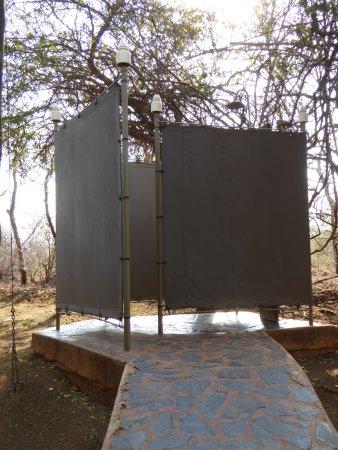 Pongola, แอฟริกาใต้: douche extérieure