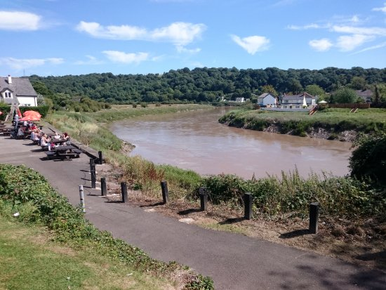 Caerleon, UK: By the river - in the Sun