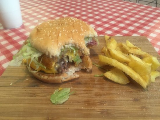 Quality Hawaiian Burger at the Real Burger, Killorglin