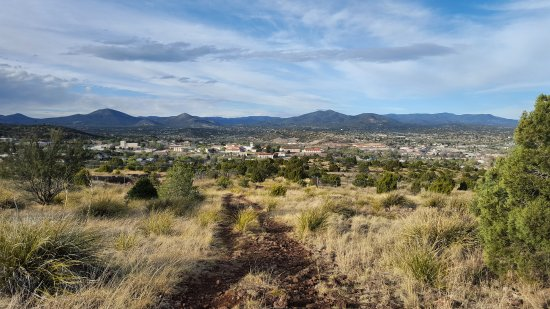 Silver City, Nuevo Mexico: A view of town from Boston Hill!