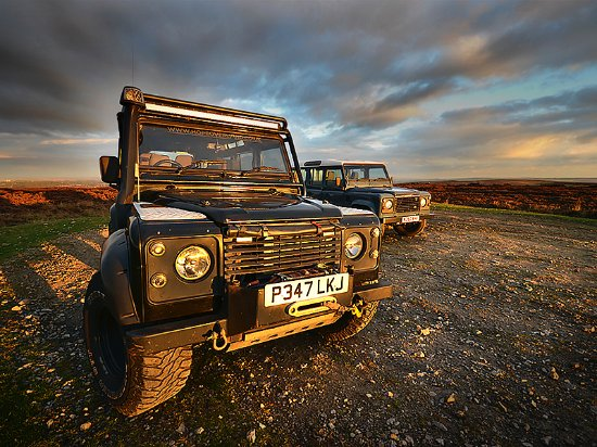 Hope Valley, UK: The Land Rover Defender, one of if not the best 4x4 in the world.