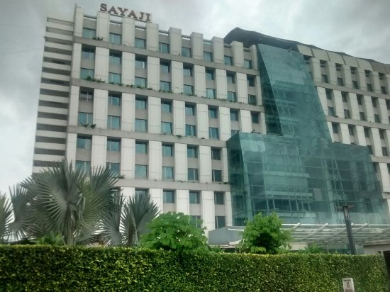 Sayaji Front View Picture Of Portico Restaurant Hotel