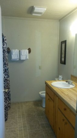 Royal, AR: 1 Bedroom cabin bathroom