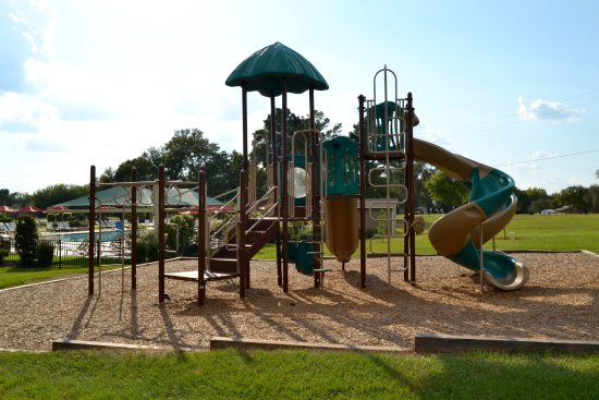 Willis, TX: Brand new playground. This shot doesn't show the large swing set.