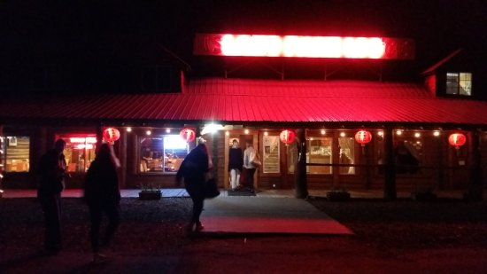 China Grove restuarant at Island Park Lodge at night