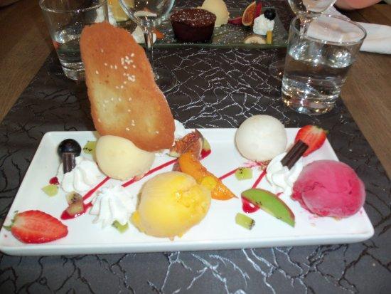 La Loupe, Francia: assiette de sorbets