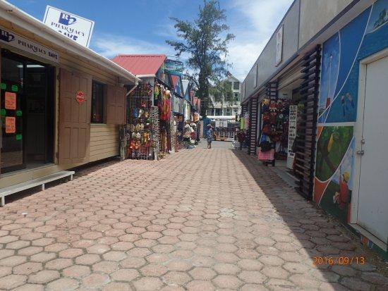 Belize Tourism Village : Shopping Area.....
