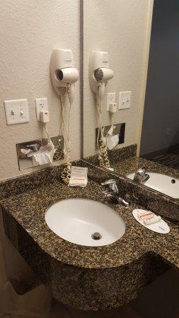 Brooksville, FL: Sink, dryer, tissue, Shampoo, & Soap