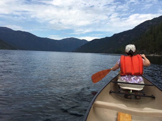 Great canoeing on Christina Lake