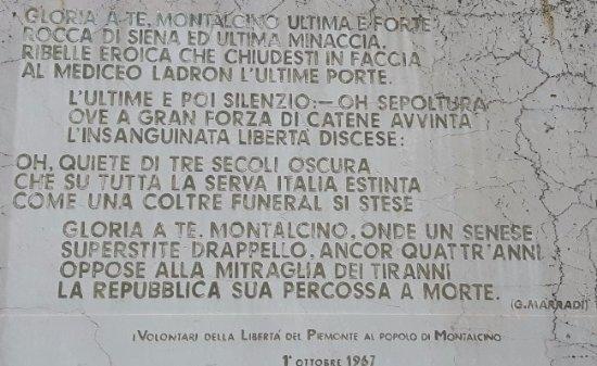 Montalcino, Italia: la Targa d'Onore