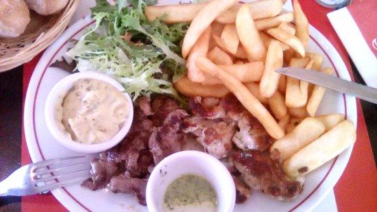 Quetigny, فرنسا: araignée de bœuf et de porc, sauce béarnaise : les deux viandes sont excellentes