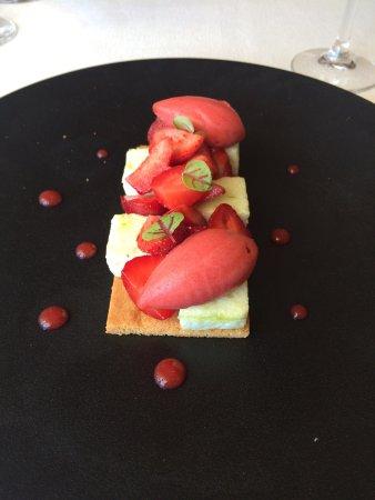Puligny-Montrachet, Frankrike: Un dessert surprenant