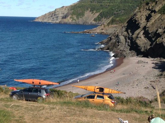 View of Meat Cove beach (and water is warm!!)