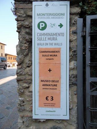 Monteriggioni, Italia: un po di informazione. (questa parte e a pagamento)..il resto se può visitare gratuitamente .