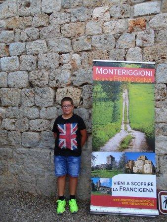 Monteriggioni, Italia: mio Figlio.