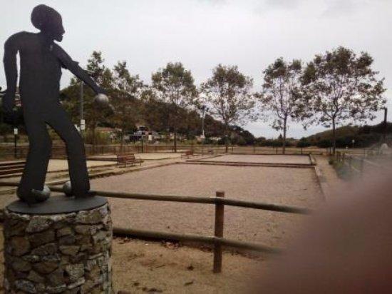 Arenys de Munt, إسبانيا: Pista de petanca