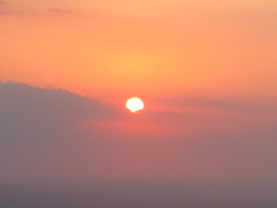 Csky Hotel: Sunrise from bedroom window