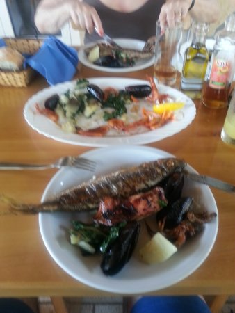 Milna, Croácia: Fist Platter with local version of Sea Bream