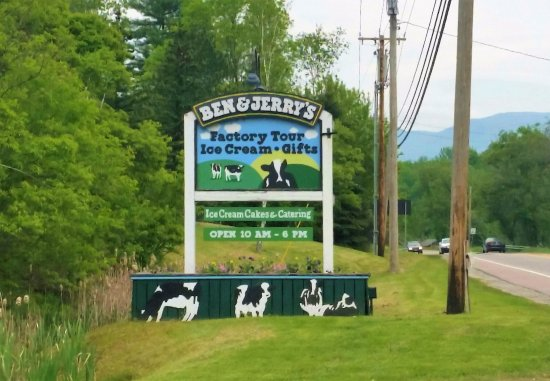 Waterbury, VT: Sign from the road.