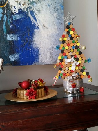 Another Christmas Decorations Made Of Wine Corks Picture Of