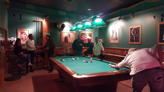 JB's Gin Joint: Regulation size billiard table
