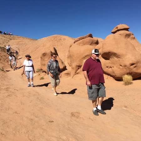 Goblin Valley State Park: Walking among the goblins in the upper valley.