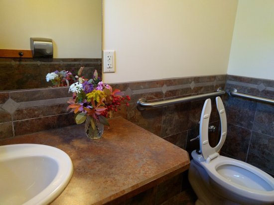 Yampa River Botanic Park: They even had flowers in the public restroom!