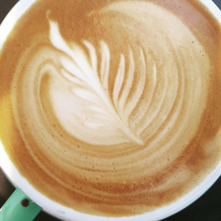 Cambridge, Nieuw-Zeeland: Amazing coffee with local organic milk straight from the farm