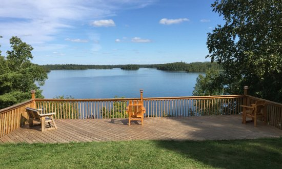 Bigfork, MN: View of Turtle Lake from the lodge