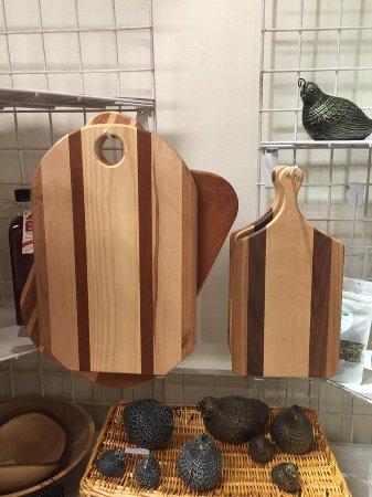 Summerland, Canada: Handmade cutting boards.