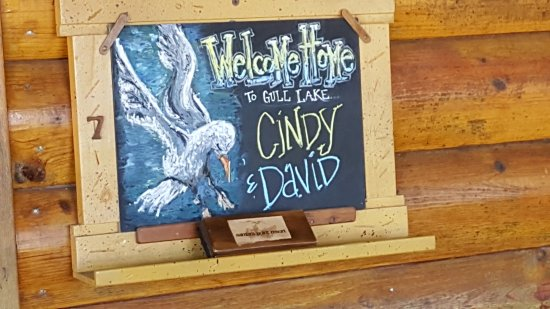 Nisswa, MN: Our Welcome Sign at the front door