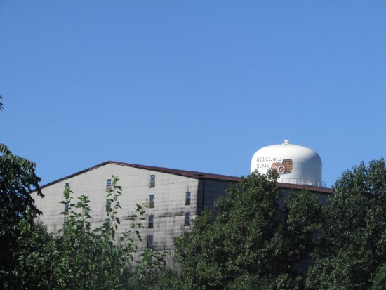 Lawrenceburg, KY: View of water tower and Wherehouse