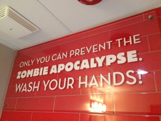 ทอร์นตัน, โคโลราโด: On bathroom wall