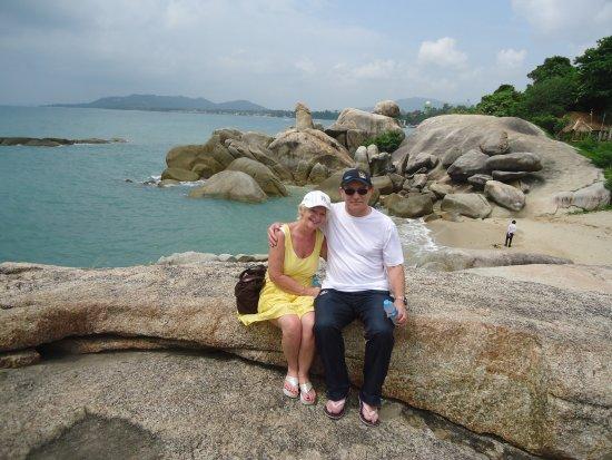 Grandmother and Grandfather Rocks (Hin Yai & Hin Ta): Grandfather Rock in background