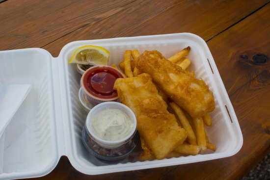 Big H's Fish and Chips : We shared this lunch. Doesn't look good?