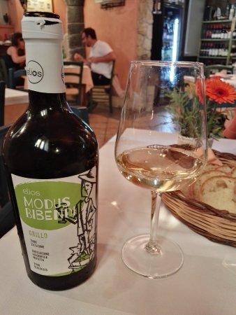 Riposto, Ιταλία: Elios Grillo wine from Alcamo