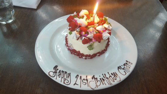 Cafe Sydney: Special Order Birthday Cake - Vanilla, Raspberry, White Chocolate Mousse