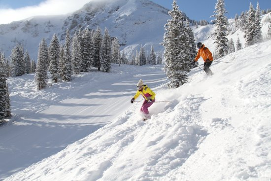 Alta, UT: Girl with Instructor 5