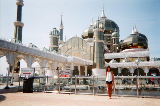 Kuala Terengganu, Malaysia: exterior of Crystal Mosque (taken in Fujifilm camera)