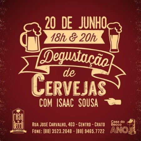 Crato, CE: Degustação de Cervejas - Junho 2015