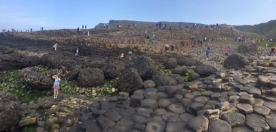 Ballycastle, İrlanda: rocks formation in causeway