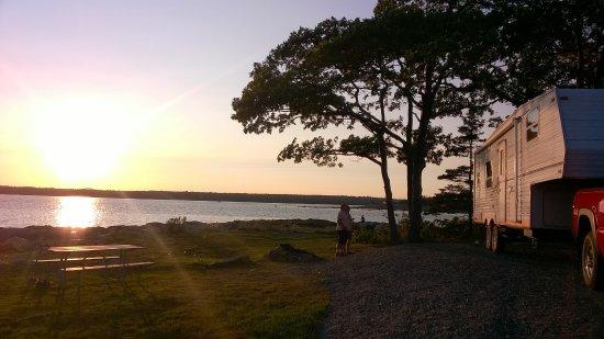 Bar Harbor Campground KOA: Sunsets are amazing!