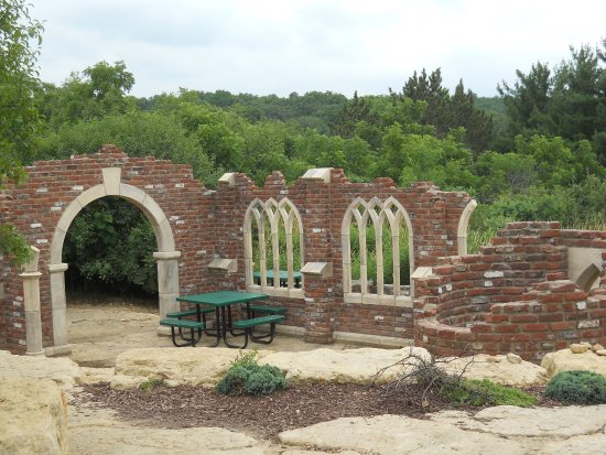 Part of the new-old ruin at the New Glarus Brewery