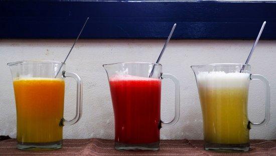 Pousada Ramalhete: sucos feitos na hora de servir