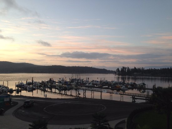 Sooke, Canadá: The marina below the hotel in the early morning