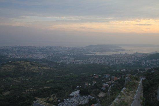 Klis, Croazia: View from fortress to Split