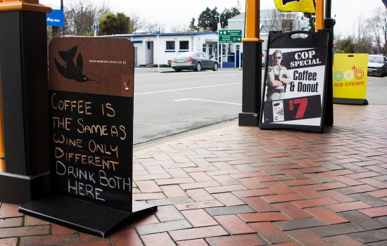 Geraldine, Nueva Zelanda: Organic Coffee and Organic Icecream