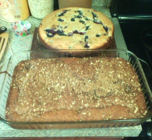 Jamestown, NY: Berry Ricotta Cake & Cinnamon Morning Bread