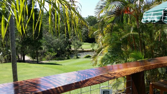 Tanawha, Australia: The Billabong Bar looking over to the 5th green.