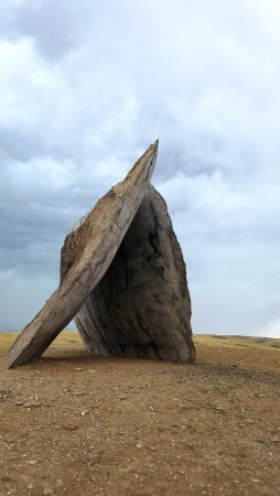 Fishtail, MT: Inverted portal by Ensemble Studio. You have to be there to feel the massiveness of this sculptu